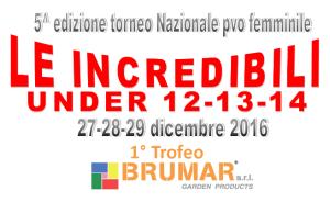 """TORNEO """"LE INCREDIBILI"""" – Edizione 2016 – Elenco piazzamenti delle Categorie Under 12 – 13 – 14"""