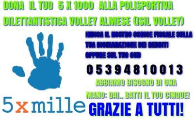 5 x 1000: donatelo alla Polisportiva Dilettantistica Volley Almese (ISIL VOLLEY ALMESE) per crescere insieme.